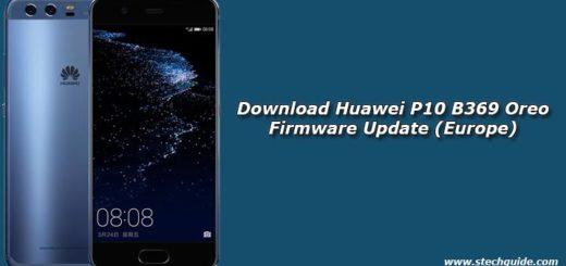 Download Huawei P10 B369 Oreo Firmware Update (Europe)
