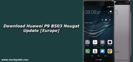 Download Huawei P9 B503 Nougat Update [Europe]
