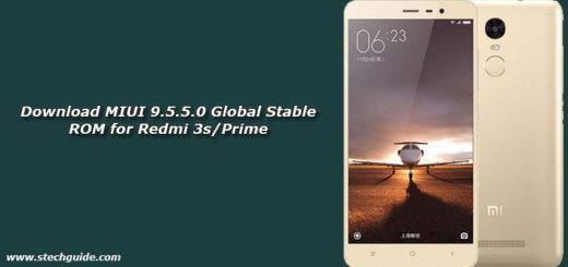Download MIUI 9.5.5.0 Global Stable ROM for Redmi 3s/Prime