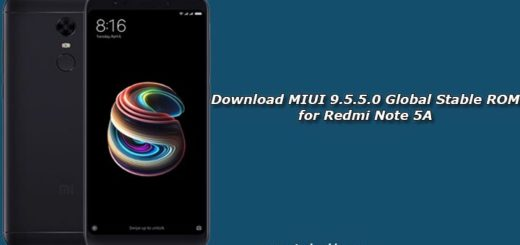 Download MIUI 9.5.5.0 Global Stable ROM for Redmi Note 5A