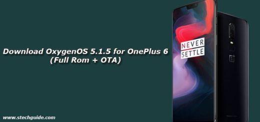 Download OxygenOS 5.1.5 for OnePlus 6 (Full Rom + OTA)