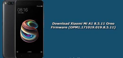 Download Xiaomi Mi A1 8.5.11 Oreo Firmware (OPM1.171019.019.8.5.11)