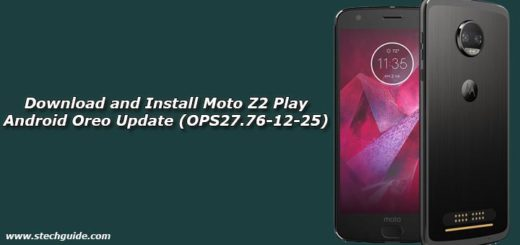 Download and Install Moto Z2 Play Android Oreo Update (OPS27.76-12-25)
