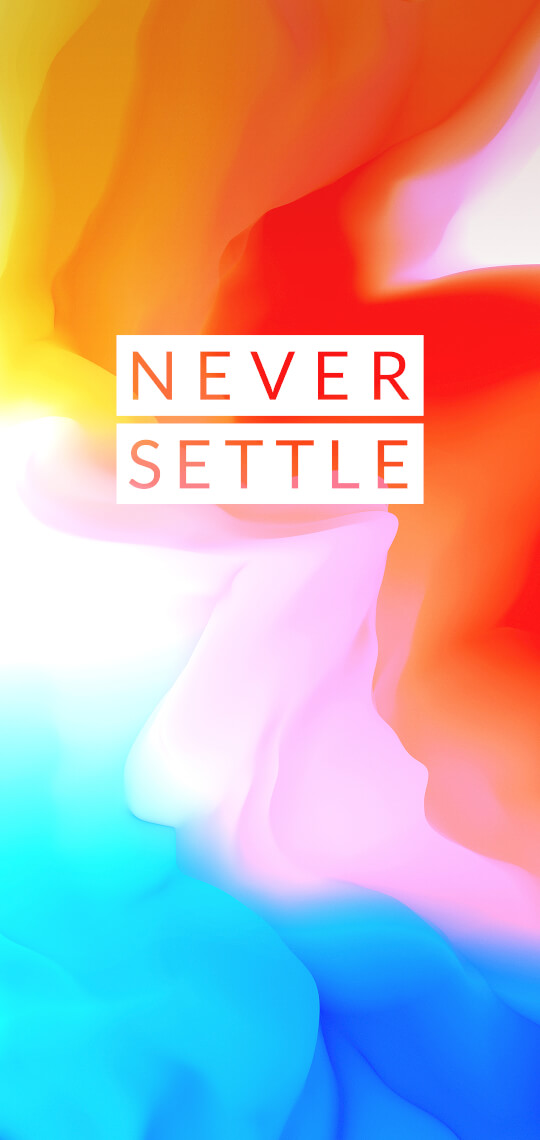 OnePlus 6 never Settle Wallpaper