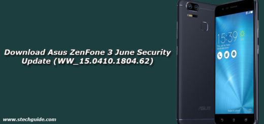 Download Asus ZenFone 3 June Security Update (WW_15.0410.1804.62)