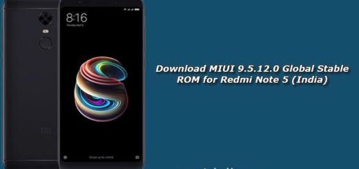 Download MIUI 9.5.12.0 Global Stable ROM for Redmi Note 5 (India)
