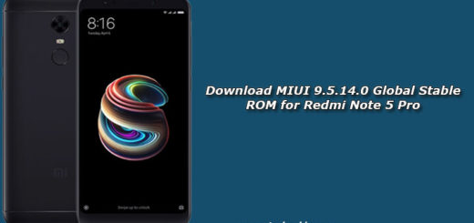 Download MIUI 9.5.14.0 Global Stable ROM for Redmi Note 5 Pro