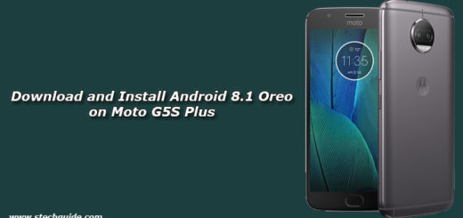 Download and Install Android 8.1 Oreo on Moto G5S Plus