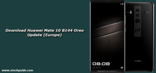 Download Huawei Mate 10 B144 Oreo Update (Europe)