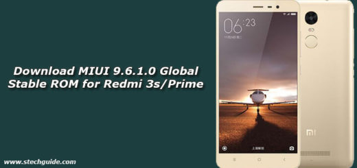 Download MIUI 9.6.1.0 Global Stable ROM for Redmi 3s/Prime