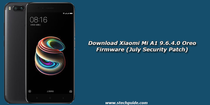 Download Xiaomi Mi A1 9.6.4.0 Oreo Firmware (July Security Patch)