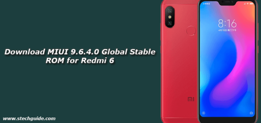 Download MIUI 9.6.4.0 Global Stable ROM for Redmi 6
