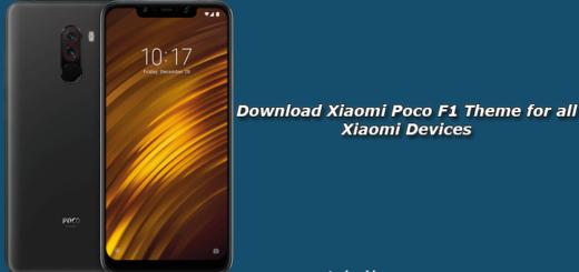 Download Xiaomi Poco F1 Theme for all Xiaomi Devices