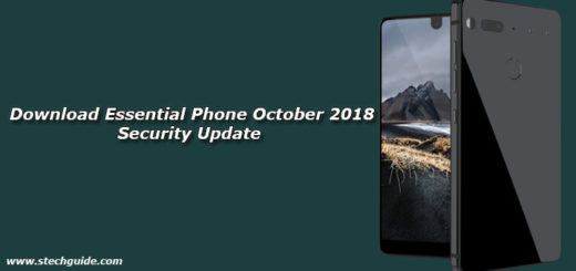 Download Essential Phone October 2018 Security Update