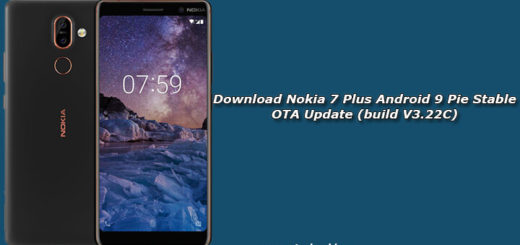 Download Nokia 7 Plus Android 9 Pie Stable OTA Update (build V3.22C)