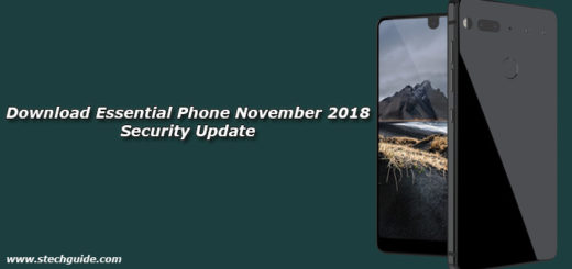 Download Essential Phone November 2018 Security Update