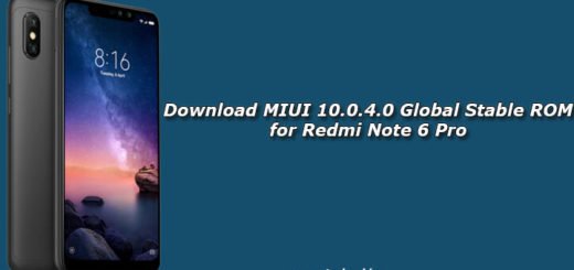 Download MIUI 10.0.4.0 Global Stable ROM for Redmi Note 6 Pro