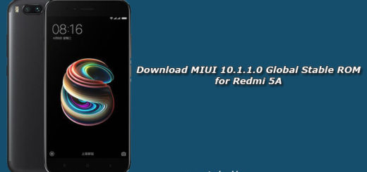Download MIUI 10.1.1.0 Global Stable ROM for Redmi 5A
