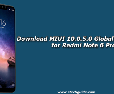 Download MIUI 10.0.5.0 Global Stable ROM for Redmi Note 6 Pro