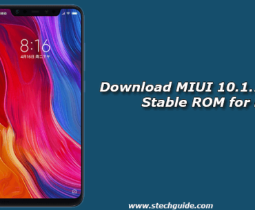Download MIUI 10.1.1.0 Global Stable ROM for Mi 8