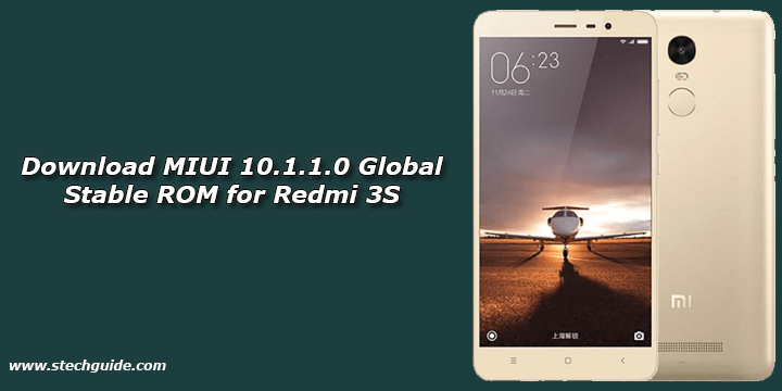 Download MIUI 10.1.1.0 Global Stable ROM for Redmi 3S