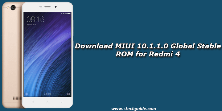 Download MIUI 10.1.1.0 Global Stable ROM for Redmi 4