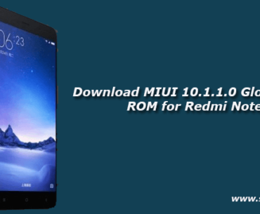 Download MIUI 10.1.1.0 Global Stable ROM for Redmi Note 3