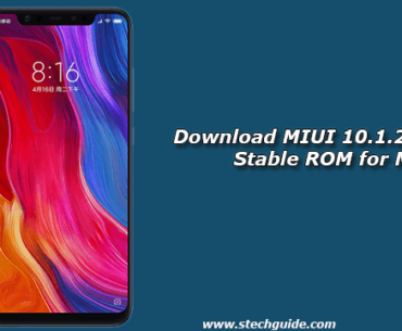 Download MIUI 10.1.2.0 Global Stable ROM for Mi 8