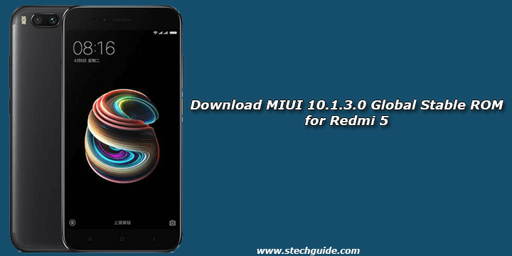 Download MIUI 10.1.3.0 Global Stable ROM for Redmi 5