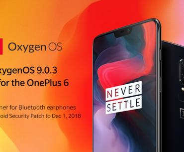 Download OxygenOS 9.0.3 for OnePlus 6 (Full Rom + OTA)