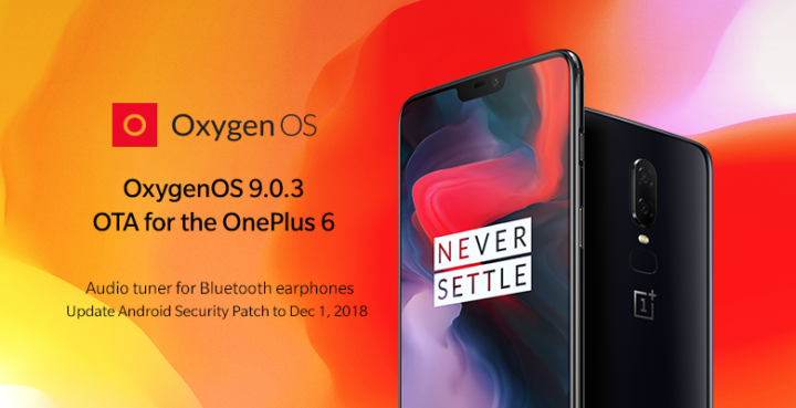 Download OxygenOS 9.0.3 for OnePlus 6 (Full Rom + OTA)
