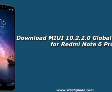 Download MIUI 10.2.2.0 Global Stable ROM for Redmi Note 6 Pro