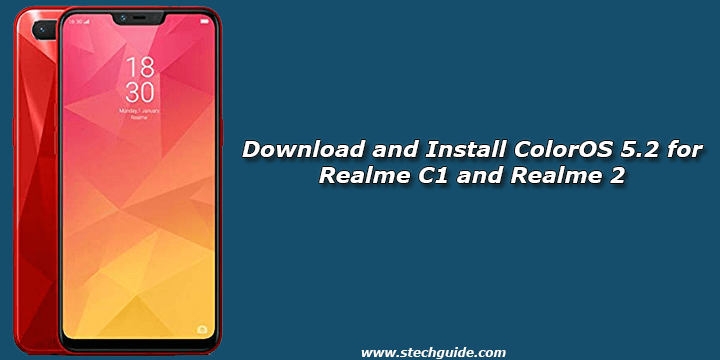 Download and Install ColorOS 5.2 for Realme C1 and Realme 2