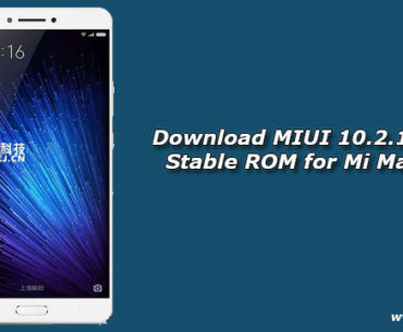 Download MIUI 10.2.1.0 Global Stable ROM for Mi Max Prime