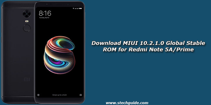 Download MIUI 10.2.1.0 Global Stable ROM for Redmi Note 5A/Prime