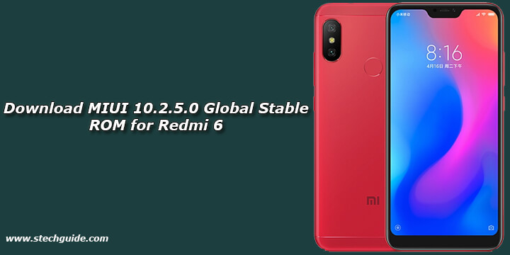 Download MIUI 10.2.5.0 Global Stable ROM for Redmi 6