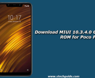 Download MIUI 10.3.4.0 Global Stable ROM for Poco F1