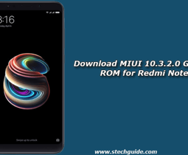 Download MIUI 10.3.2.0 Global Stable ROM for Redmi Note 5 Pro