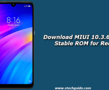 Download MIUI 10.3.6.0 Global Stable ROM for Redmi 7