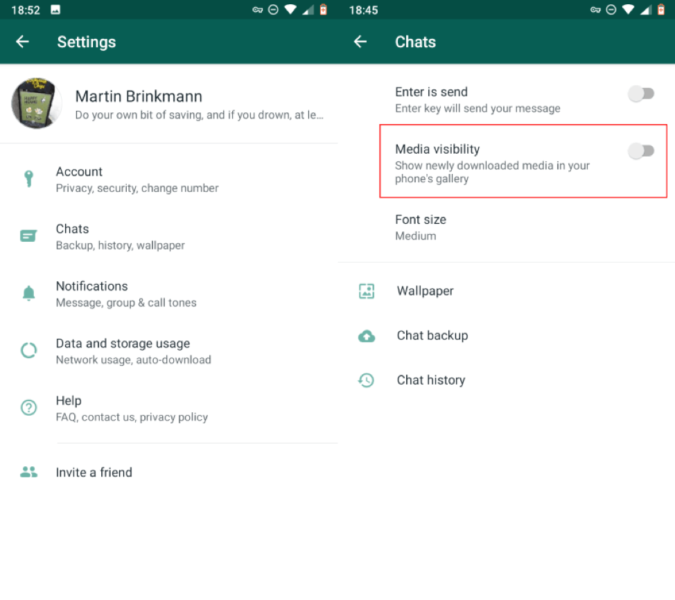 Tweak WhatsApp Settings