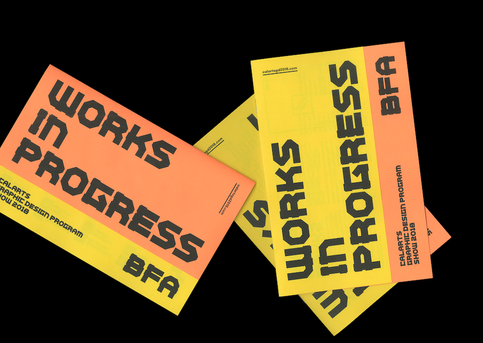 Works in progress event brochure