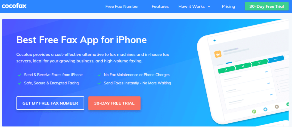 CocoFax: Best Free App to Send and Receive Faxes