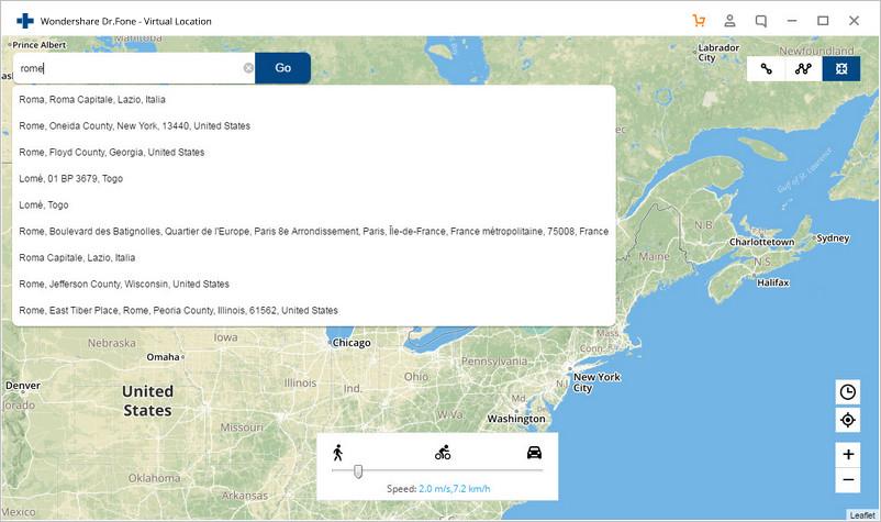 Dr. Fone Virtual Location
